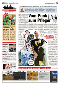TZ Bericht - VOm Punk zum Pfleger